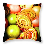 Gumdrops And Candy Pops  Throw Pillow