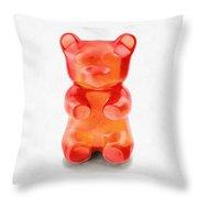 Gummy Bear Red Orange Throw Pillow