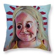 Gummy Eyes Swedish Fish Throw Pillow