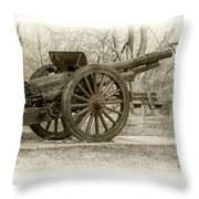 Gun At Fort Howard Throw Pillow