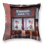Johnson City Tennessee - Gun Shop Throw Pillow