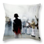 Gun Smoke Throw Pillow