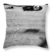 Gunfight Reenactment Victim  Tombstone Arizona 1970 Throw Pillow