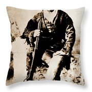 Gunfighter Throw Pillow