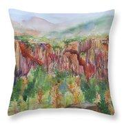 Gunnison Ridge Colorado Throw Pillow