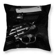 Guns And More Guns Throw Pillow