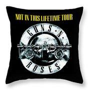 Guns And Roses Logo1 2017 Throw Pillow