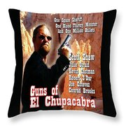 Guns Of El Chupacabra Throw Pillow by The Scott Shaw Poster Gallery