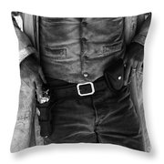 Gunslinger Tombstone Arizona Throw Pillow