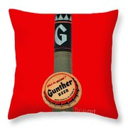 Gunther Beer Throw Pillow