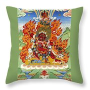 Guru Dragpo Throw Pillow