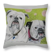 Gus And Olive Throw Pillow