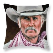 Gus Mccrae Texas Ranger Throw Pillow by Rick McKinney