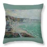 Gustave Loiseau 1865 - 1935 Beach Fecamp Throw Pillow