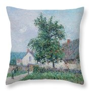 Gustave Loiseau 1865 - 1935 Small Farm In Vaudreuil, Time Gray Throw Pillow