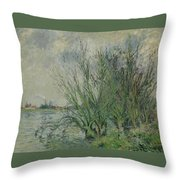 Gustave Loiseau 1865 - 1935 Willows, Edges Oise Or On The Banks Of The Oise Throw Pillow