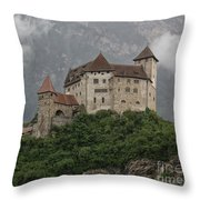 Gutenberg Castle Throw Pillow by Yair Karelic