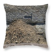 Gutter With Sand And Screw Throw Pillow