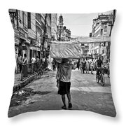 Guwahati In Black And White Throw Pillow