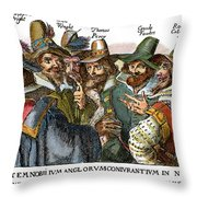 Guy Fawkes, 1570-1606 Throw Pillow