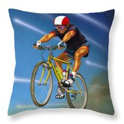 Guy In The Sky Throw Pillow