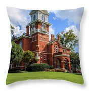 Gwinnett County Historic Courthouse Throw Pillow by Doug Camara
