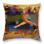 Gymnast Girl Throw Pillow
