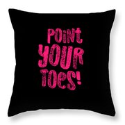 Gymnastics Point Your Toes Hot Pink Gymnast Light Throw Pillow