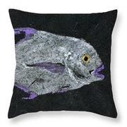 Gyotaku African Pompano Throw Pillow