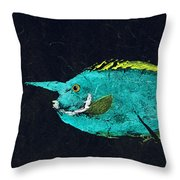 Gyotaku Mu Mu Throw Pillow by Captain Warren Sellers