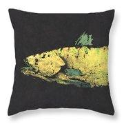 Gyotaku Snook Throw Pillow by Captain Warren Sellers