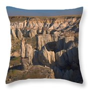Gypsum Cliffs Throw Pillow