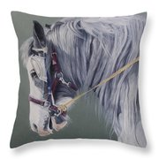 Gypsy Cob Mare-milltown Fair Throw Pillow