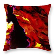 Gypsy Flame Throw Pillow