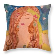 Gypsy Girl 2 Love To The World Throw Pillow