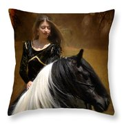 Gypsy Girl Kate Throw Pillow