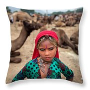 Gypsy Girl Throw Pillow