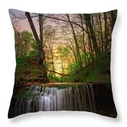 Gypsy Glen  Rd Waterfall  Throw Pillow