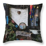 Gypsy Hut Throw Pillow