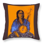 Gypsy Music Throw Pillow by Johanna Elik