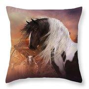 Gypsy On The Farm Throw Pillow