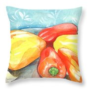Gypsy Peppers Throw Pillow