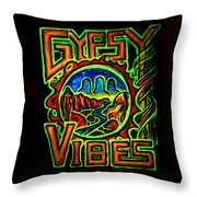 Gypsy Vibes  Throw Pillow