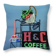 H And C Coffee Throw Pillow