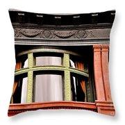 H Between The Columns Throw Pillow