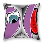 h EAR ing Throw Pillow