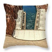 H O O V E R  D A M Throw Pillow by Charles Dobbs