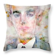 H. P. Lovecraft - Watercolor Portrait.3 Throw Pillow