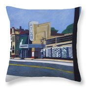 H Street Ne / Atlas District In Washington Dc Throw Pillow