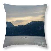 Halong Bay Sunset  Throw Pillow